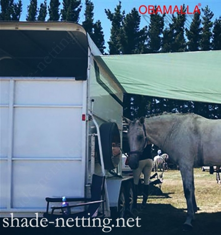 horse under to the shade cloth obamalla.
